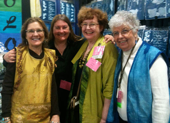 Ginny Eckley, Valerie Vavrik, Carla Peery and Maggie Backman at the Sew Expo in Puyallup, WA 2010