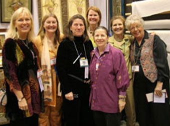 Silk Experience Teachers in Houston, Texas at the International Quilt Festival in 2006