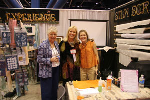Silk Experience Teachers in Houston, Texas at the International Quilt Festival in 2005