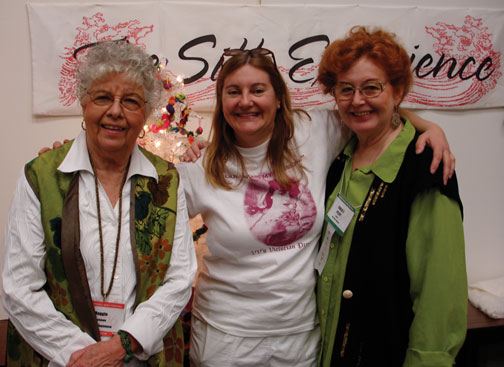 Maggie, Val & Carla In Houston, Texas at the International Quilt Festival in 2007