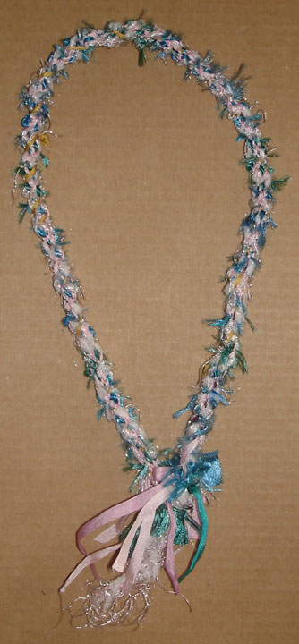 kumihimo japanese braid ribbon necklace